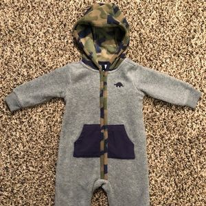 6 month fleece coverall